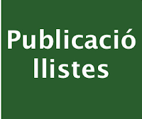 Publicació Llistes
